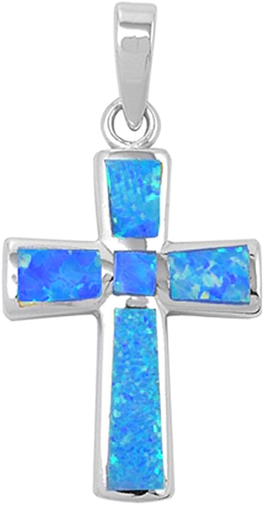 Oxford online Now free shipping shopping Diamond Co Wide Cross Lab Silv Opal .925 Created Sterling