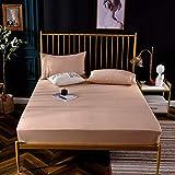 XGguo Protector de colchón de bambú Funda de colchón y Ajustable Funda de Cama Polar-Champagne Gold_180 * 200cm