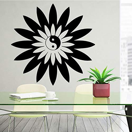 Chinesische Art Wandaufkleber Tai Chi Philosophie Butter Blume Schlafzimmer Wohnzimmer Home House Dekoration Dekor Grün M 30cm X 29cm