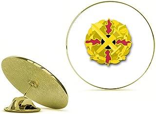 HOF Trading Gold US Army Defense Ammunition Center and School Unit Crest Gold Lapel Pin Tie Suit Shirt Pinback