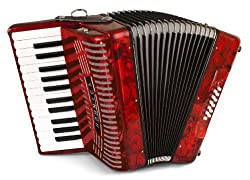 cheap Hohner Akkordeons 1303-RED 12 Bass Entry Level Piano Accordion Red