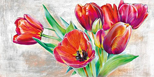 Art-Galerie Digitaldruck/Poster Michael Tarin - Tulip Bouquet - 80 x 40cm - Premiumqualität - Blumen - Made IN Germany SHOPde