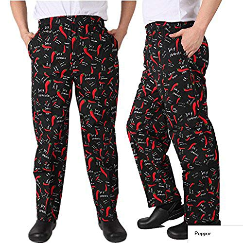 Chef Clothing Classic Baggy Pepper Chef Pants (M, Pepper)