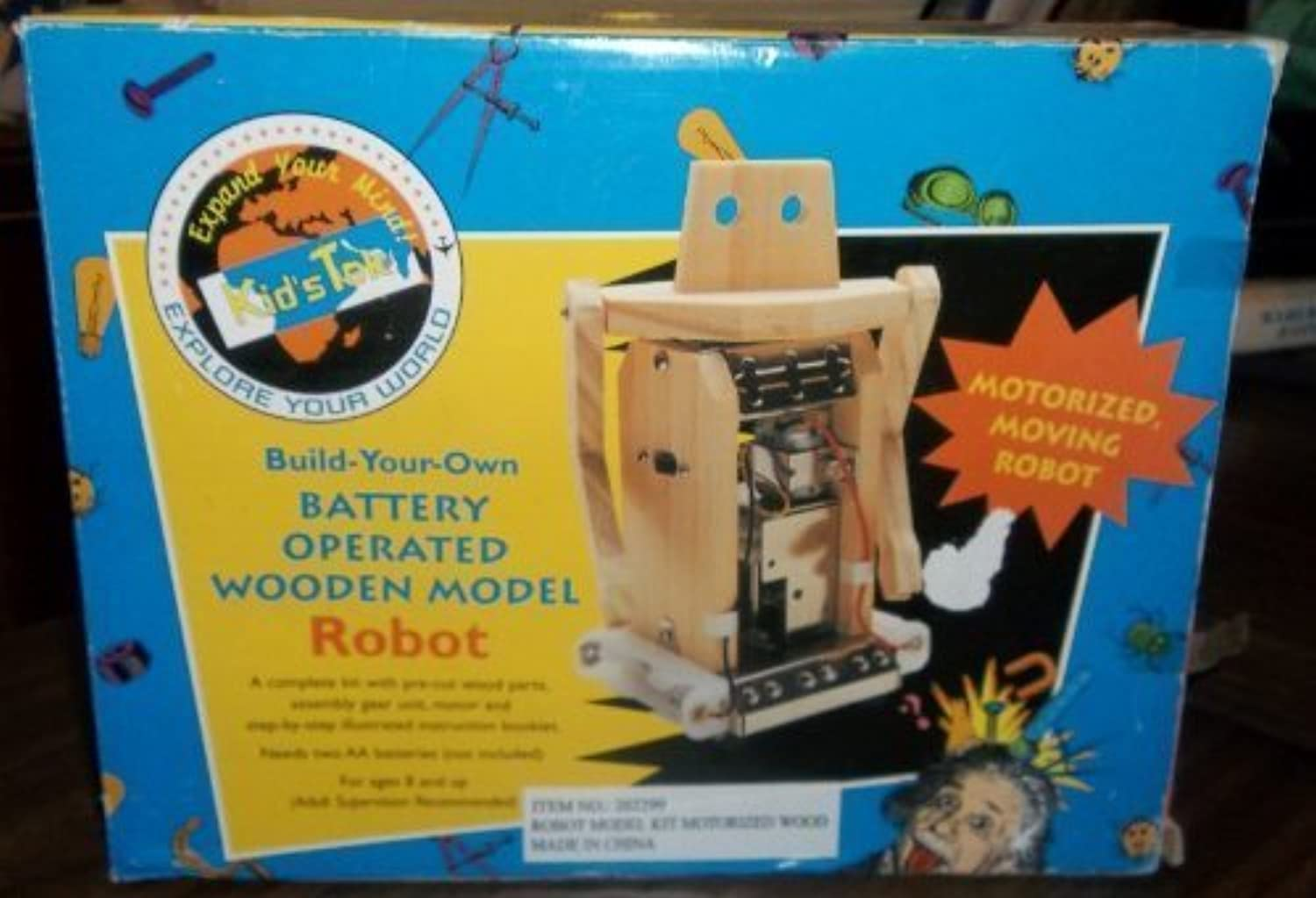 Build Your Own Battery Operated Wooden ROBOT Model
