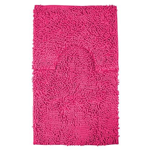 Looms-Work® Badematten-Set, 2-teilig, rutschfeste Fußmatte, grobe Schlaufe, groß, fuchsia, Loop Extra Large 60cm x 110cm