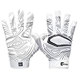 Cutters Game Day Receiver Glvs White Topo L/XL, Adult: L/XL