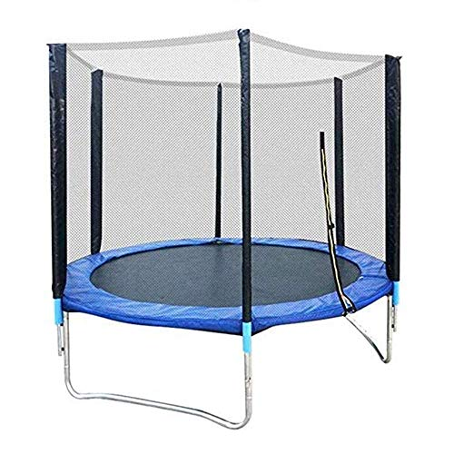TBTBGXQ Kids Trampoline, Outdoor Sports Trampoline with Safety Enclosure Net, Padded Net Posts and Edge Cover Jumping Trampolin (5Ft/6Ft/8Ft),5Ft