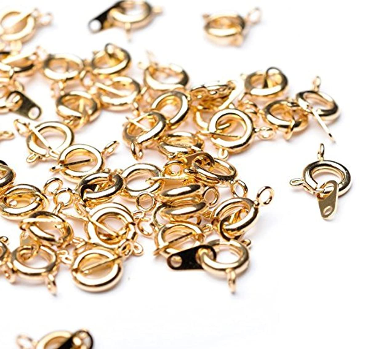 Beads Unlimited 6 mm Gold Plated Metal Small Bolt Ring, Pack of 50
