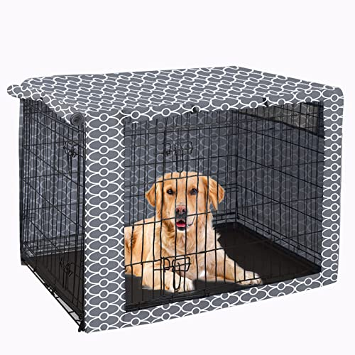Dog Crate Cover Durable Polyester Pet Kennel Cover Universal Fit for Wire...