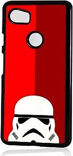 (for Google Pixel 3 XL) Black Frame Back Case Cover - HOT10107 Starwars Stormtrooper Soldier