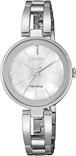 Citizen Women's Solar Powered Wrist watch, stainless steel Bracelet analog Display and Stainless Steel Strap, EM0673-83D