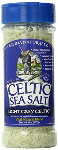 Light Grey Celtic Sea Salt Grinders – Large Refillable, Reusable Glass Grinders with Additive-Free, Delicious Sea Salt - Gluten-Free, Non-GMO Verified, Kosher and Paleo-Friendly, 8 Ounces (Pack of 6)