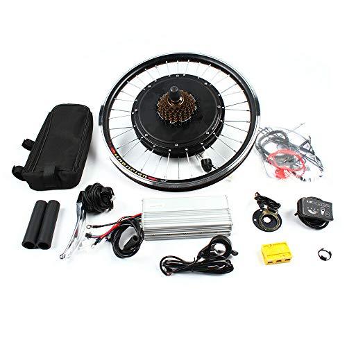 """OUKANING Kit de conversión de Bicicleta E de Rueda Trasera de 20""""48V 1000W Motor de buje Trasero Kit de conversión de Bicicleta eléctrica Ebike"""