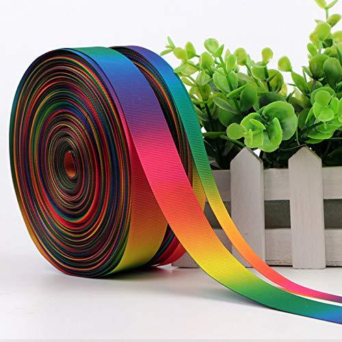 Viner 5 Yards 9mm 12mm 15mm 19mm 25mm 38mm 50mm Polyester Gemengde Kleuren Effen Grosgrain Rainbow Linten, Enkelzijdig R2, Grosgrain 19mm D2