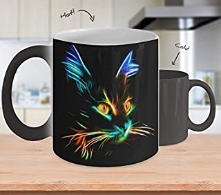 Gift For Cat Lovers - Lighting Cat color changing coffee mug
