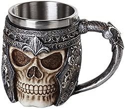 Pacific Giftware Medieval Viking Warrior Helmet Skull Mug Gothic Tankard 11oz Beer Mug Drinking Vessel