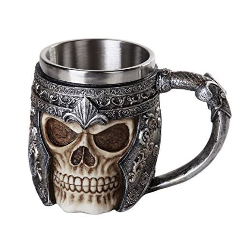 Ebros Viking Warrior Helmet Skull Mug Gothic Tankard 11oz Beer Mug Stein Cup