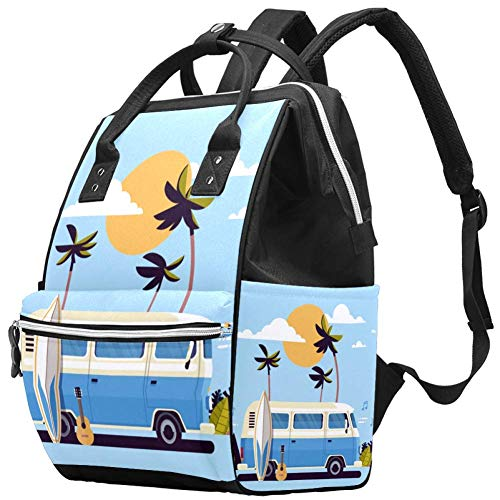 TIZORAX Zomer Vakantie Bus Grote Capaciteit Nappy Rugzak Baby Luiertas Rugzak Reistas voor Moeders Papa