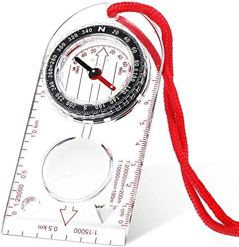 Aomier Kompass,Kompass Outdoor,Kartenkompass,Wanderkompass,Bundeswehr Kompass Outdoor Navigationsgeräte Peilkompass