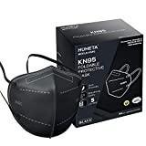 KN95 Face Mask 60 Pack, Included on FDA EUA List, 5-Ply Breathable & Comfortable Filter Safety Mask, Filter Efficiency95%, Protective Cup Dust Masks Against PM2.5 - Individually Wrapped (Black Mask)