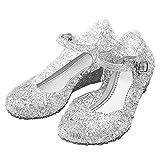 Katara-Zapatos De Princesa Eiskönigin Con Cuña Disfraz Niña, color blanco, EU 28 (Tamaño del fabricante: 30) (ES10)