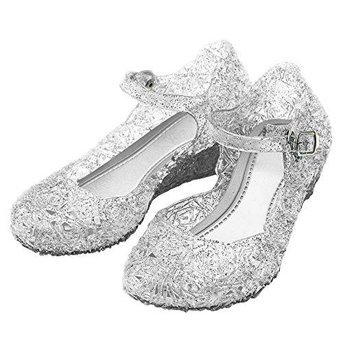 Katara-Zapatos De Princesa Con Cuña Disfraz Niña, color blanco, EU 32 (Tamaño del fabricante: 34) (ES10)
