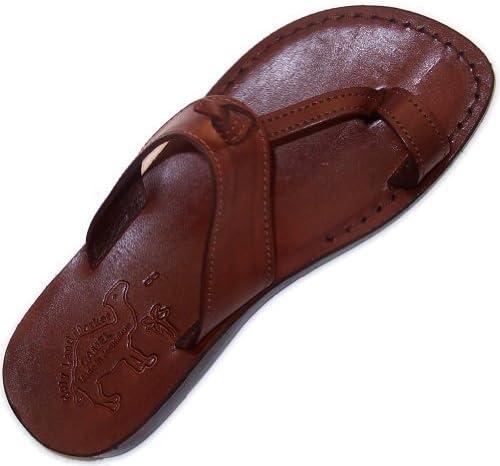Holy Land Market Unisex Genuine Leather Biblical Flip Flops (Jesus - Yashua) Nazareth Style