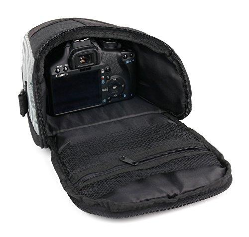 DURAGADGET Bandolera Negra Y Gris para Cámara Kodak Pixpro AZ252 | AZ365 | AZ521 | AZ522 | AZ525 | AZ651 | FZ201 | FZ41 | FZ51 | WP1 Sport | AZ401 - con Correa Ajustable - Resistente Y Duradera
