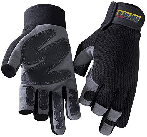 Handschuh Mechanik 3-Finger Schwarz/Grau 9