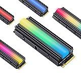 EZDIY-FAB 5V ARGB SATA NVMe NGFF M.2 Refrigerador SSD para 2280 M.2 SSD, con Almohadilla térmica (SSD no Incluido)