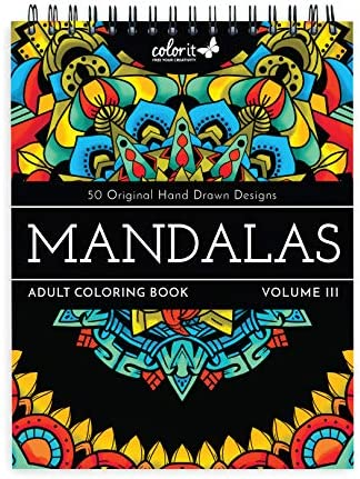 ColorIt Mandalas III Adult Coloring Book 50 Single Sided Designs Thick Smooth Paper Lay Flat product image