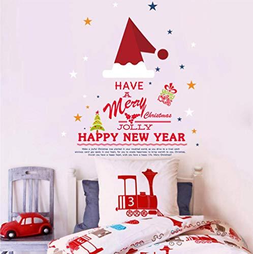 Weihnachtsmütze Cartoon Aufkleber Weihnachtsfeier Raum Schlafzimmer Schlafsaal Schlafsaal Dekoration Wandaufkleber