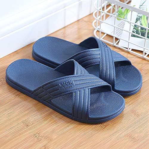 ypyrhh Sandalias Moda Casual,Zapatos de baño para el hogar,Cruz de los Amantes de Las acciones-Gris Claro_40 / 41,Lino Zapatillas Interior Sandalias
