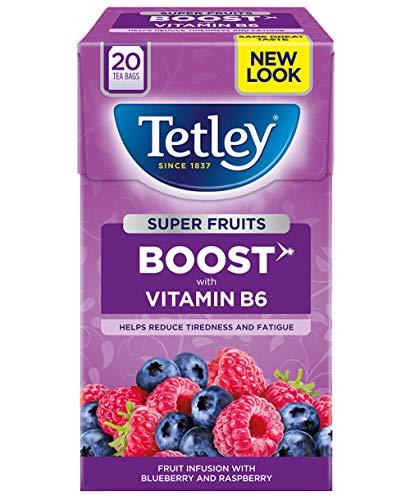 Tetley Te de Frutas Impulso - 4 Pack X 20 Bolsitas de Te Arandano/Frambuesa