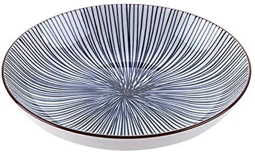 TREEECFCST Platos Vajilla Las Placas con Dibujos Postre Secundarios Porcelana Plato de cerámica Ensalada Ronda de Platos caseros de Cocina de Cena for el Queso Postre Pasta (Color : A)
