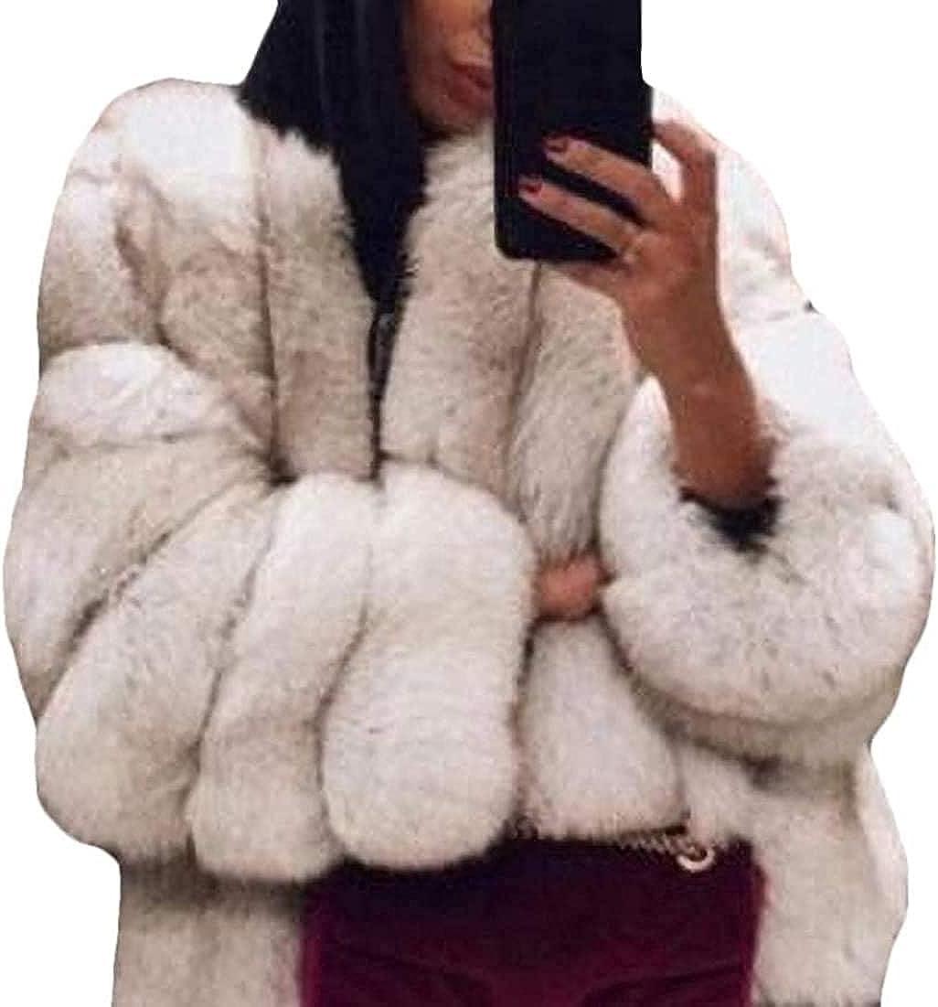 Women Outwear Jacket Winter Thick Faux Fur Warm Parkas Coat