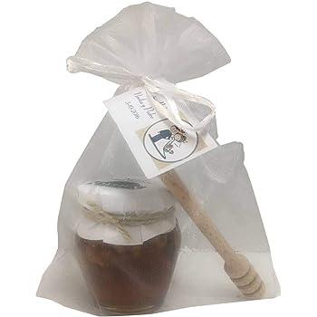 Recuerdo tarro de miel con nueces con palito catador en bolsa de organza: Amazon.es: Hogar