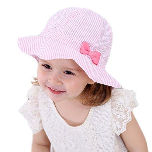 Gifts Treat Mädchen Sommer Sonnenhut, Faltbarer Eimer Hut Weiche Baumwolle Strand Hüte Hut des Breiten Krempe Fischers