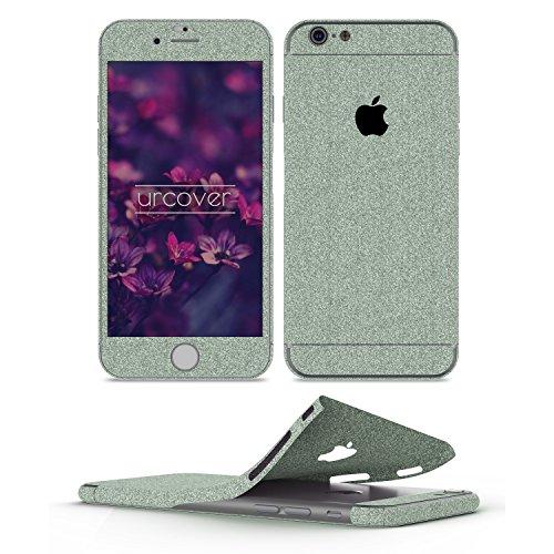 Urcover Pellicola Protettiva Glitterata per iPhone 6 / 6s Plus | Foglio Brillantini AntiGraffio | Skin Ultra Slim Protezione Adesiva Glamour in Verde