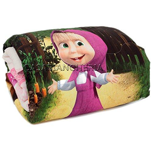 Gabel Couette pour lit de bébé avec bord Masha et ourson