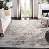 Safavieh Adirondack Collection ADR101B Oriental Distressed Non-Shedding Stain Resistant Living Room Bedroom Area Rug, 9' x 12', Ivory / Silver