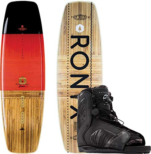 RONIX TOP Notch Flex 143 2019 Black/Caffeinated/Wood inkl. HYPERLITE Remix Boots Black, 43-48
