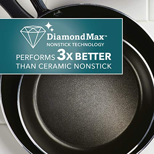 Farberware Cookstart Aluminum DiamondMax Nonstick Jumbo Cooker Chef's Pan, 6-Quart, Silver