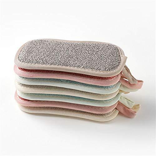 RUYU 4pc Magic Kitchen Bambusfaser Reinigungstücher Doppelseitige Antibakteriell Dishcloths Waschgeschirrtuch Schrubben Schwämme Washin (Color : 4pcs Multicolor)