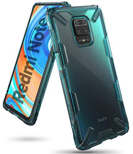 Ringke Cover Fusion-X Compatibile con Xiaomi Redmi Note 9 PRO e Redmi Note 9S, Custodia Paraurti Antiurto - Turquoise Green