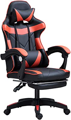 Bling Ergonomic Gaming Chair Adjustable Esports Gamer Chair, Adults Racing Video Game Chair, Large Size PU Leather High-Back Executive Office Chair