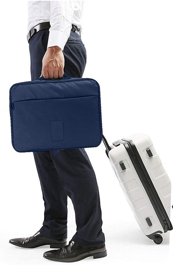 BeeViuc Bolsa para Camisas De Hombre Funda Camisas Viaje Sin Arrugas con Plegador para Transportar Organizador Maleta Regalo para Hombres - Azul ...