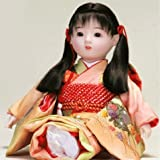 人形本舗 日本のおみやげ お土産 市松人形 日本人形 8号百おさげ