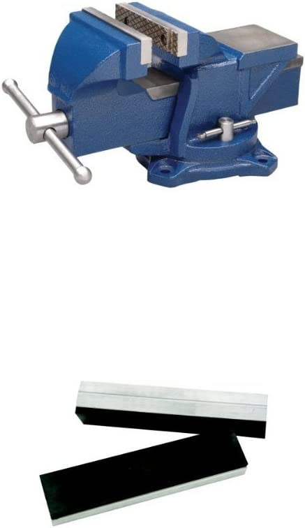 Wilton 11104 Wilton Bench Vise, Jaw Width 4-Inch, Jaw Opening 4-Inch with R-4, Rubber Face Jaw Cap, 4