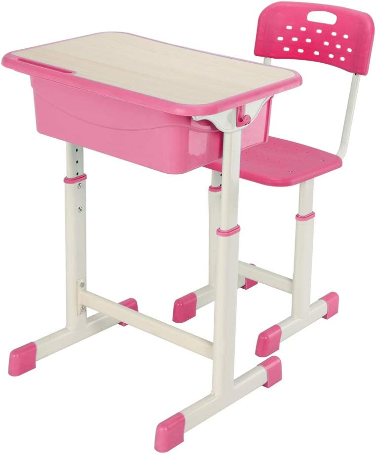 MathRose Student Desk mart and Chair Great interest Set School Kids Study Lifting Re